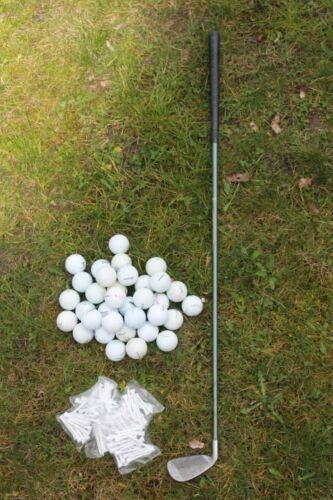 1 von 1 - Golfschläger (Eisen)+ 25 Crossgolfbälle + 50 Tees, Crossgolf, Golfbälle*** XL***