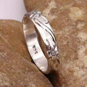 Solid-925-Sterling-Silver-Band-Ring-Meditation-Ring-Statement-Ring-Size-s8789