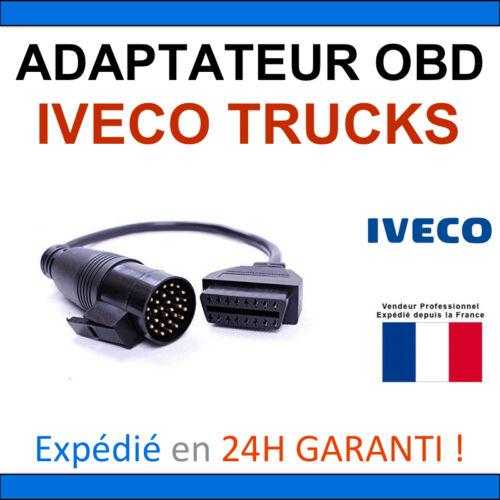 DIAG MULTIDIAG AUTEL ELM Adaptateur OBD2 vers IVECO TRUCKS 30 BROCHES