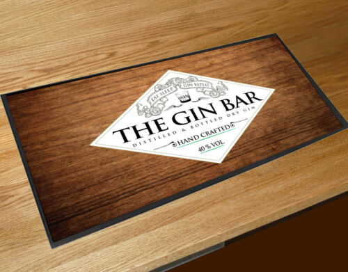 The Gin Bar runner wood effect party counter mat Cocktail bars /& Pubs