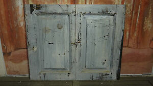 Details about Pair of Old Victorian/ edwardian painted Cupboard doors C102a  (34 x 27 1/2)