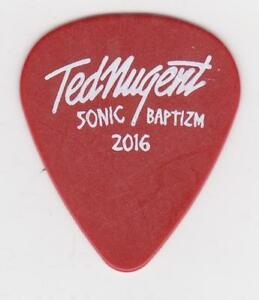 rare ted nugent 2016 concert tour guitar pick sonic baptizm motor city madman ebay. Black Bedroom Furniture Sets. Home Design Ideas
