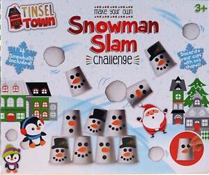 PUPAZZO di NEVE SLAM Challenge-prepara il tuo Natale Knock EM PER GIOCO!  </span>