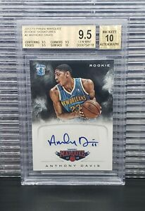 2012-Anthony-Davis-Marquee-Rookie-Signatures-RC-BGS-9-5-Auto-10-Gem-Mint-PSA-10