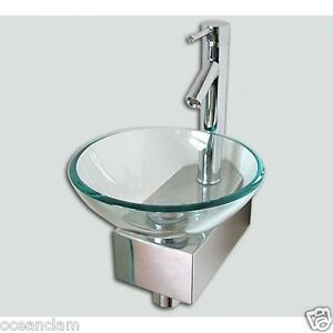 Image Is Loading E Saving Corner Bathroom Sink Basin Gl Bowl
