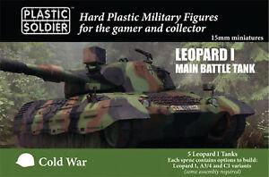 Belle 15mm Léopard 1 - Allemand - Plastique Soldat Company - Moderne - Maintenant