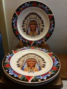Tienshan NATIVE AMERICAN Indian Chief Southwestern Teepee dinner ...