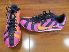 NEW NIKE Zoom Rival D 8 Track Shoes WOMENS Pink Orange Purple 616309 685 Sz 10