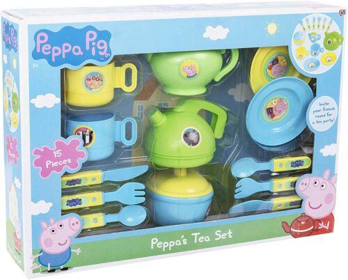 Jug Saucers Bowl Peppa Pig Cutlery /& Tea Dinner SetIncludes Teapot