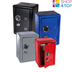 METAL SAFE MONEY COIN BANK VAULT BOX DESKTOP COMBINATION LOCK NOVELTY GIFT NEW
