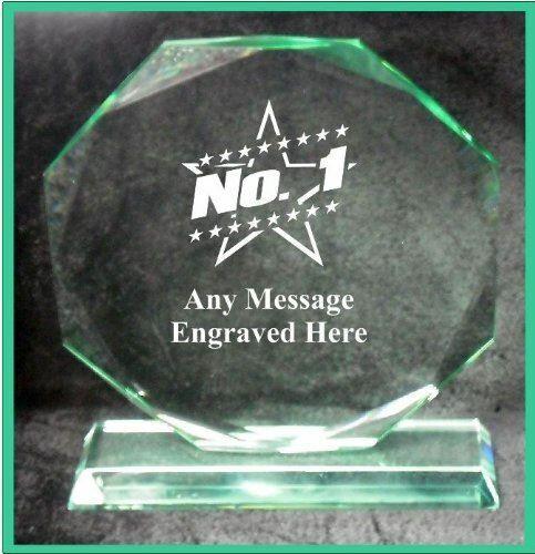 Verre NO1 15 cm Octagon Award Trophy GA1040 gravé personnalisé