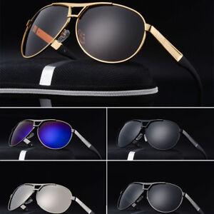 Mens-Sunglasses-High-End-Polarized-UV400-Aviator-Driving-Sport-Outdoor-Eyewear