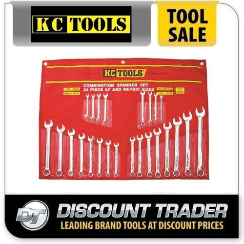 KC Tools 24 Piece Metric & AF Combination Spanner Set A13328