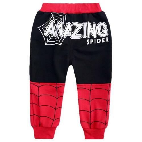 Kids Spiderman Toddler Boys Tracksuit Hoodie Sweatshirt T-shirt Pants Coat Suits