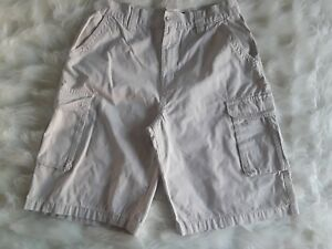 Men-039-s-Beverly-Hills-Polo-Club-100-Cotton-Beige-Cargo-6-Pockets-Shorts-Size-32