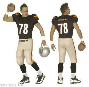 316f9acb9 Mens American Football Player Kit USA Sports Kit NFL Superbowl Stag ...