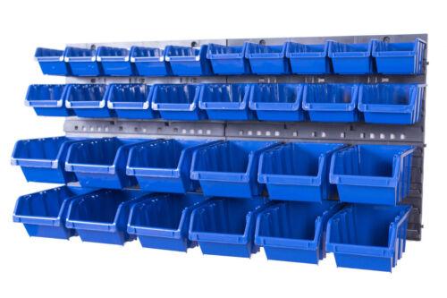 Stapelboxen 32 tlg SET Werkzeugwand Schüttenregal Lagersystem