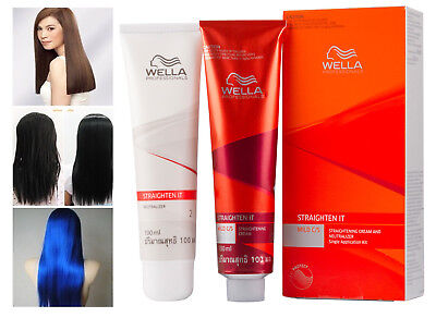 Original Wella Mild Hair Straightener permanent hair straightening kit | eBay