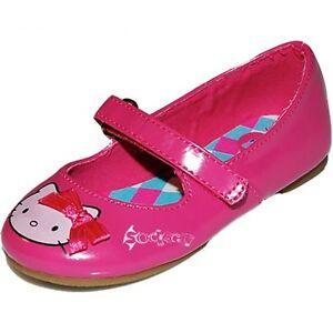 Chicas Bailarina Rosa Hello Kitty Zapatos De Salón Tallas 4-10