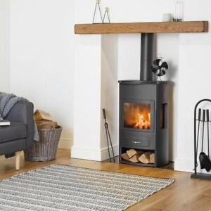 Double-Log-Burner-Fan-Warm-Air-Circulation-Stove-Heat-Automatic-Wood-Burning