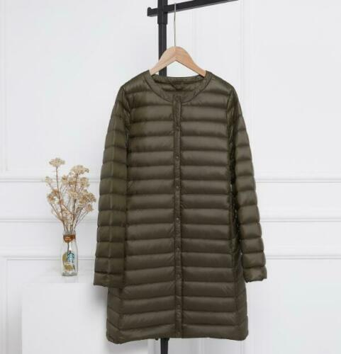 Winter Woman Duck Down Puffer Jacket Slim Liner Coat Ultra-Light  Quilted parka