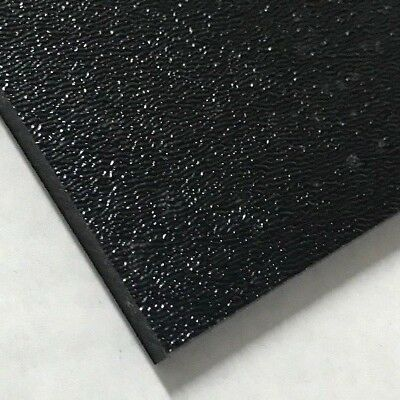 Abs Black Plastic Sheet 1 4 Quot X 24 Quot X 48 Textured 1 Side