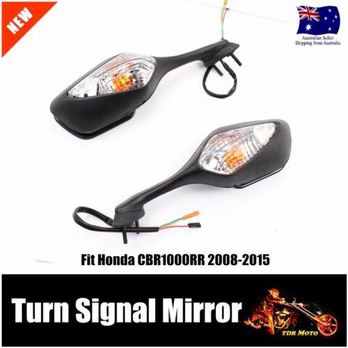 Turn Signal Black Motorcycle Mirror  4 HONDA CBR 1000 08 09 10 11 12 13 14 15 RR