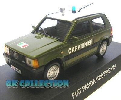 84 1980 /_ FIAT PANDA CINOFILI 1:43 modellino Carabinieri // Police