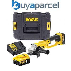 Dewalt-Dcg412p2-18v-XR-sin-Cable-Amoladora-de-Angulo-125mm-2x-5ah-Bateria-Tstak