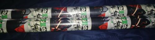 Star Wars Christmas Wrapping Paper 2 rolls 40 Ft Ea NIP #1