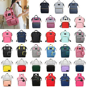 Diaper-Bag-Large-Capacity-Mummy-Nursing-Backpack-Totes-Waterproof-Satchel-Travel