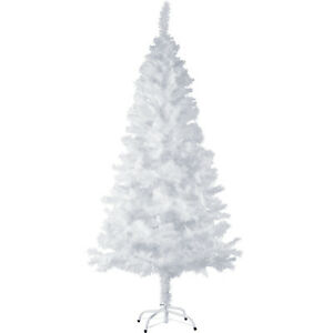 Artificial-Christmas-Tree-with-Stand-Xmas-Traditional-533-Tips-180cm-White