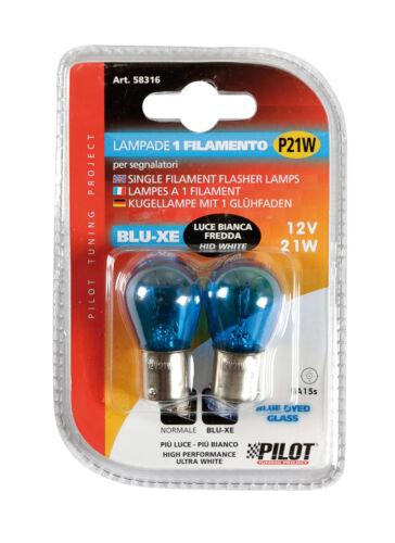 21W 12V BLU-XE SINGLE FILAMENT LAMP P21W 2 PCS D//BLISTER PILOT BA15S