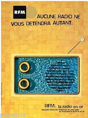 Publicite Advertising 095 1997 Rfm La Radio En Or Collectibles