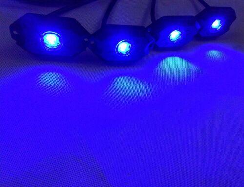 8 Pods Waterproof Off Road SUV LED Rock Light Kit White /& RGB Multi Color Strobe