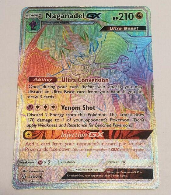 Naganadel GX - 249/236 - Hyper Rare Unified Minds Pokemon LP