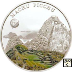 18318 2008 Mongolian 500 Togrog Machu Picchu Proof Sterling Coin OOAK