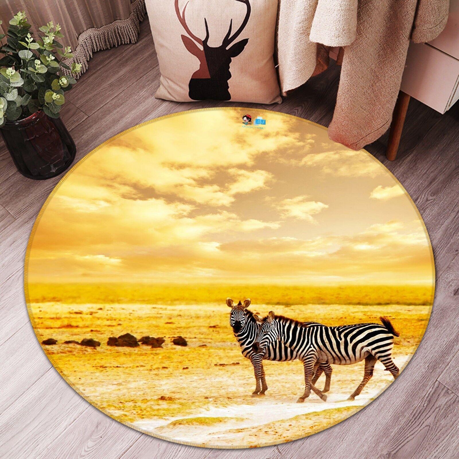 3D Zebra Animaux 0002 0002 0002 Étage Antidérapant Natte Rond Élégant Tapis FR Summer | Finement Traité  2f6215
