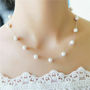 Charm-Jewelry-Pendant-Chain-Pearl-Choker-Chunky-Statement-Bib-Fashion-Necklace