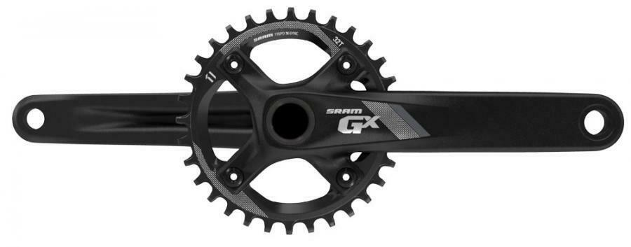 GUARNITURA SRAM GX 1000 GXP BLACK mm.175 X11V CON CORONA