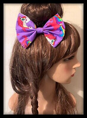 Unicorn Scrunchies Bow Fabric Hair Tie Band Ponytail Dress Hairband Party Bag