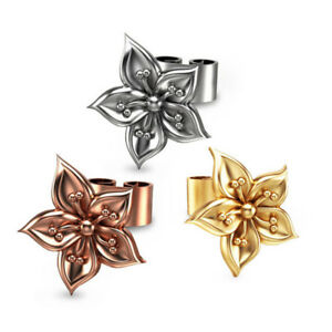 Rose-Stud-Earrings-for-Women-925-Silver-Rose-Gold-Gold-Fashion-Earrings-A-Pair