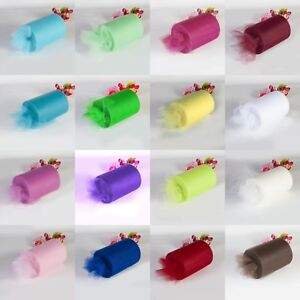 6-034-x25-100Y-Tulle-Roll-Spool-Tutu-Wedding-Gifts-Craft-Party-Decoration-Fabric