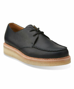 Halbschuhe Klug Clarks Originals Men ** Wallabee Beckery Field ** Black Lea ** Uk 7,8,12,13 G