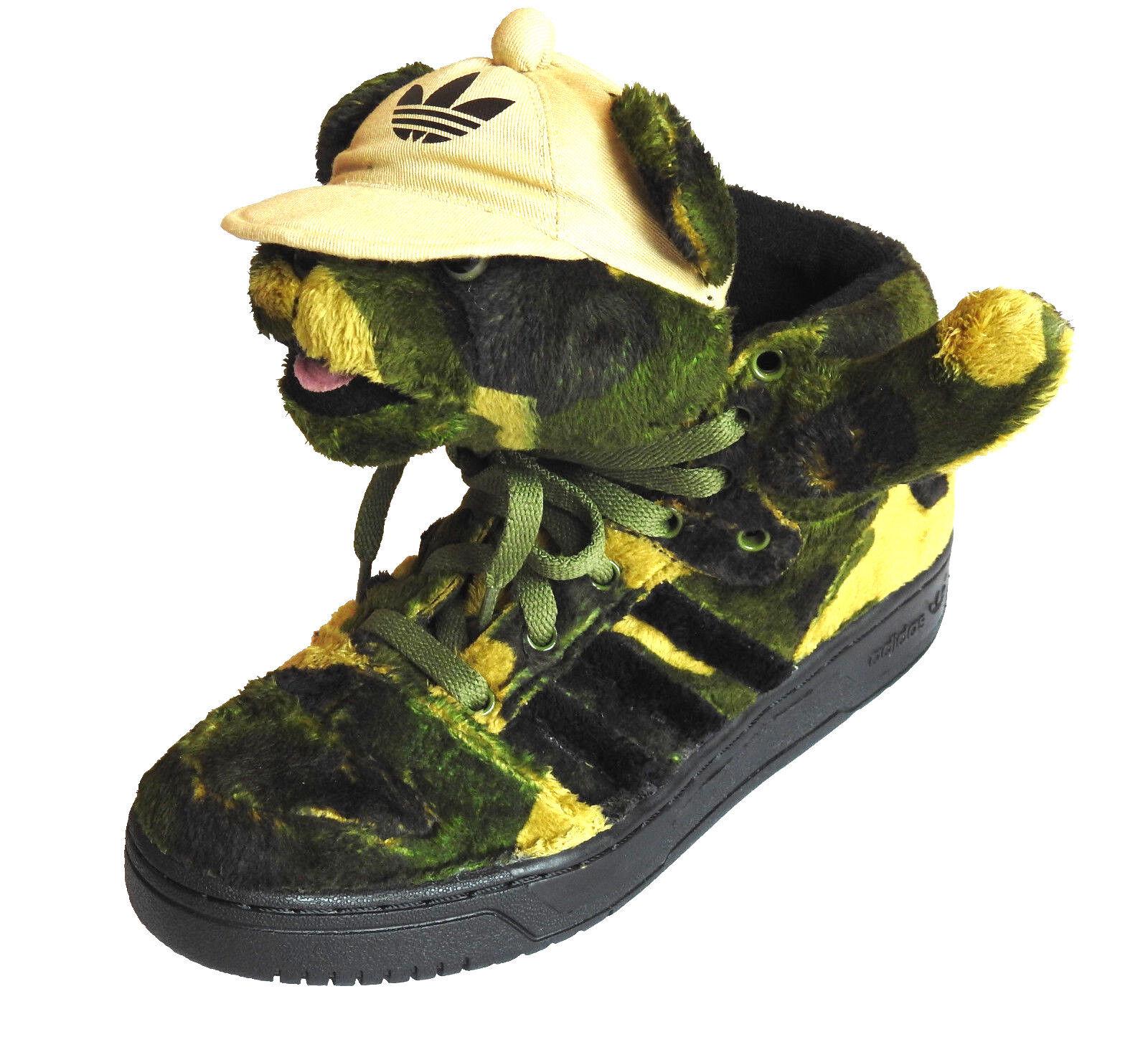 Adidas Adidas Adidas Jeremy Scott Camo Bear JS Obyo High End scarpe da ginnastica Ourson verde Terre   Reputazione affidabile  07e28d