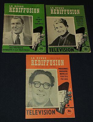 Tv Guide Montreal >> 1955 La Revue Rediffusion Montreal Que Canada Rare Tv Guide