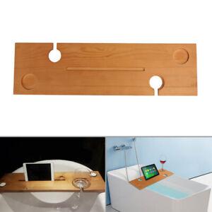 Oak-Wooden-Bath-Caddy-Tray-Bathtub-Board-Bath-Shelf-Wine-Tablet-Holder-Light