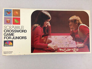 Vintage-Scrabble-Crossword-Game-For-Juniors-1975-Selchow-amp-Righter-No-18