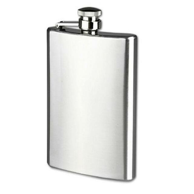 Stainless Steel High Quality Pocket Hip Flask Alcohol Whiskey Liquor Screw Cap