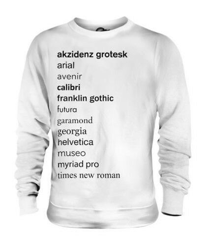 TYPEFACES UNISEX SWEATER TOP GIFT FONT TYPEFACE